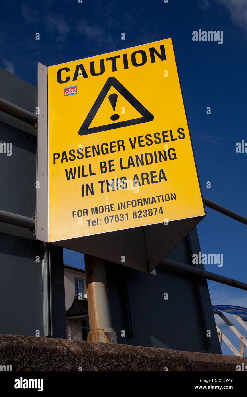 Ferry warning sign - Stock Image