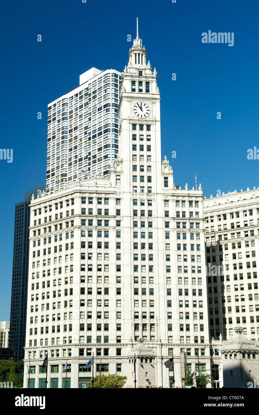 The Wrigley Building in downtown Chicago, Illinois, USA. - Stock Image