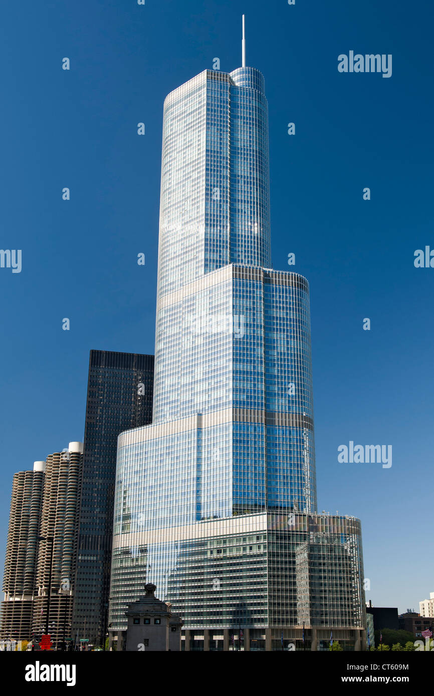 The 90-storey Trump Tower in Chicago, Illinois, USA. - Stock Image