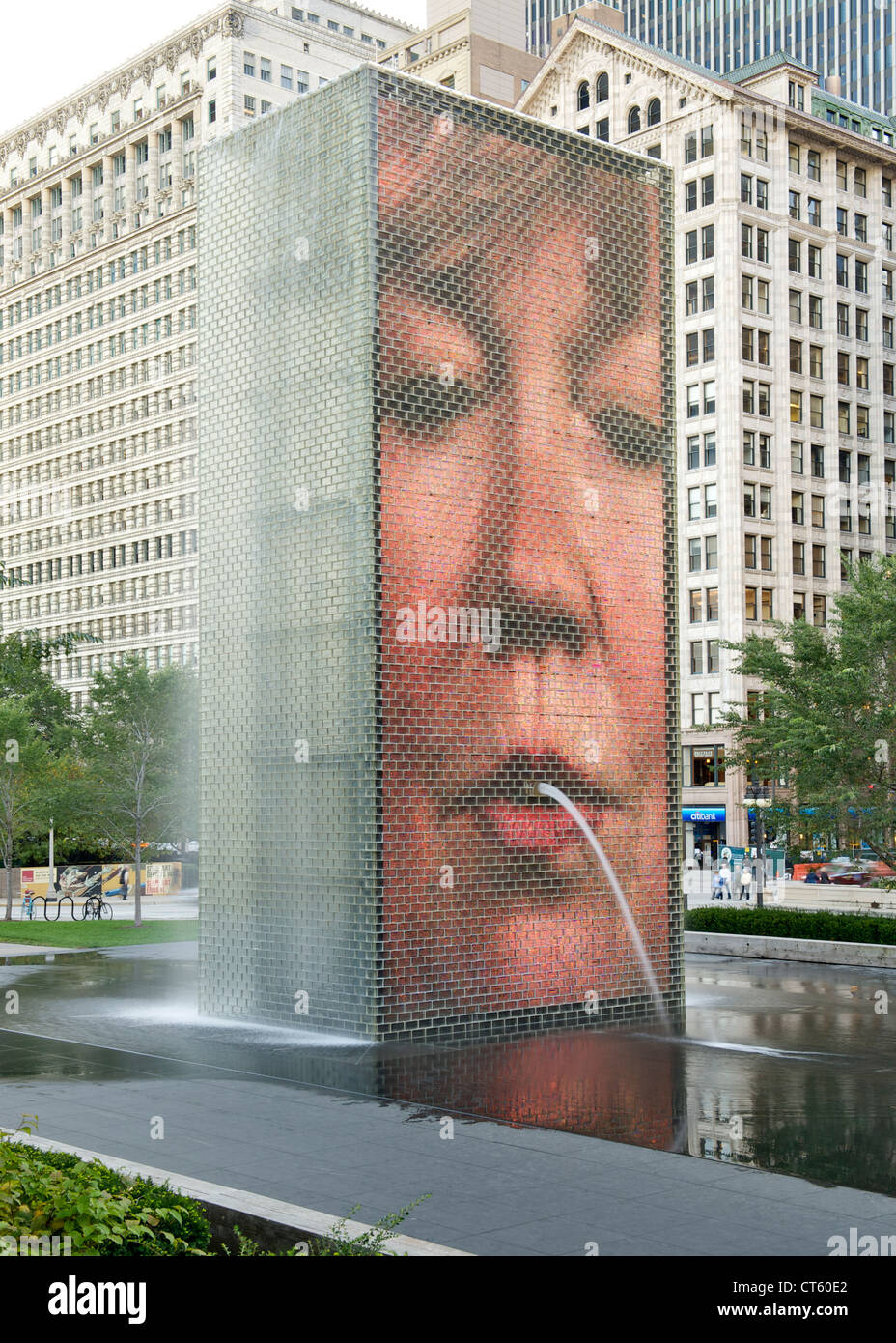 Crown fountain in Millennium Park in Chicago, Illinois, USA. - Stock Image