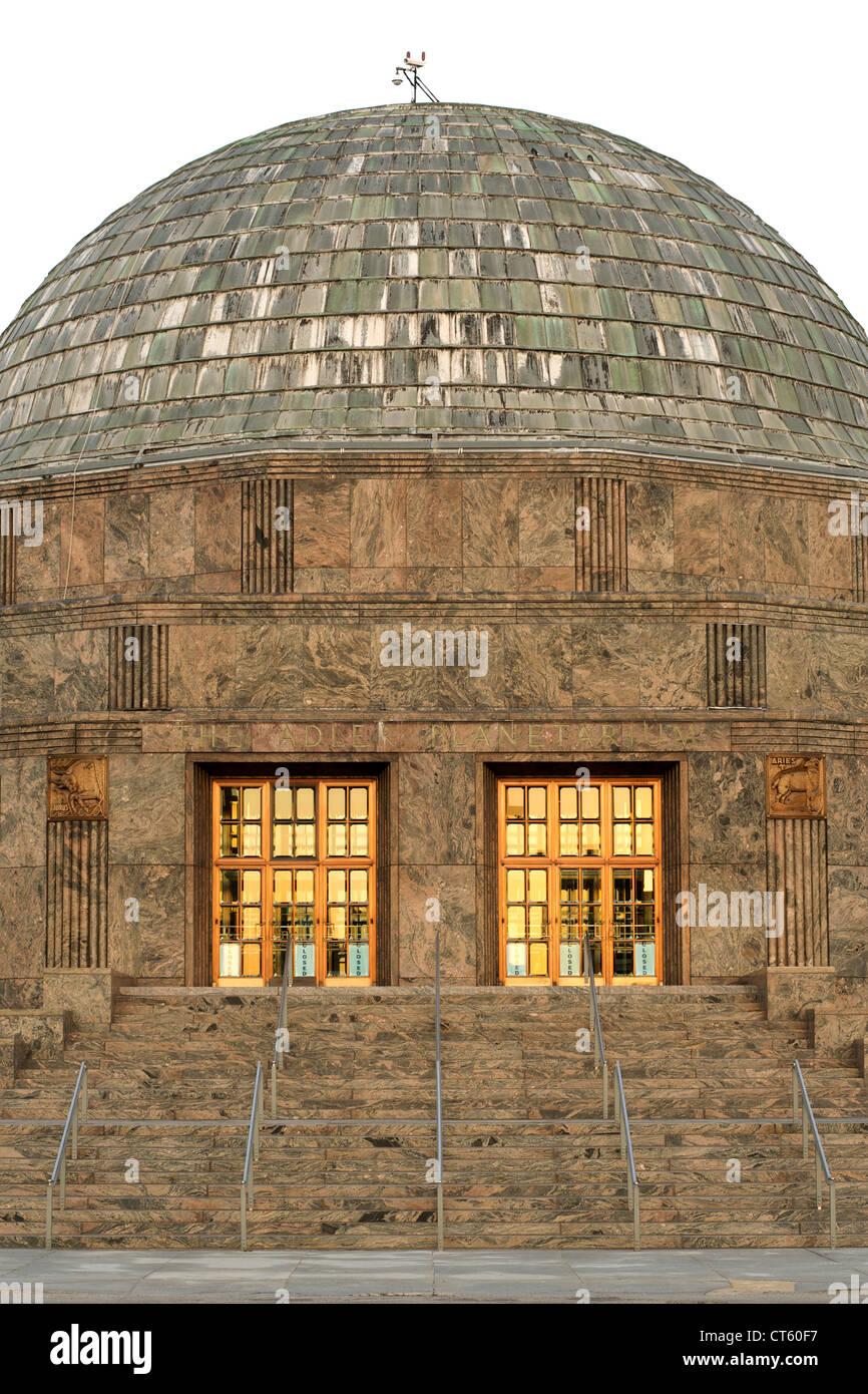 The Adler Planetarium in Chicago, Illinois, USA. - Stock Image