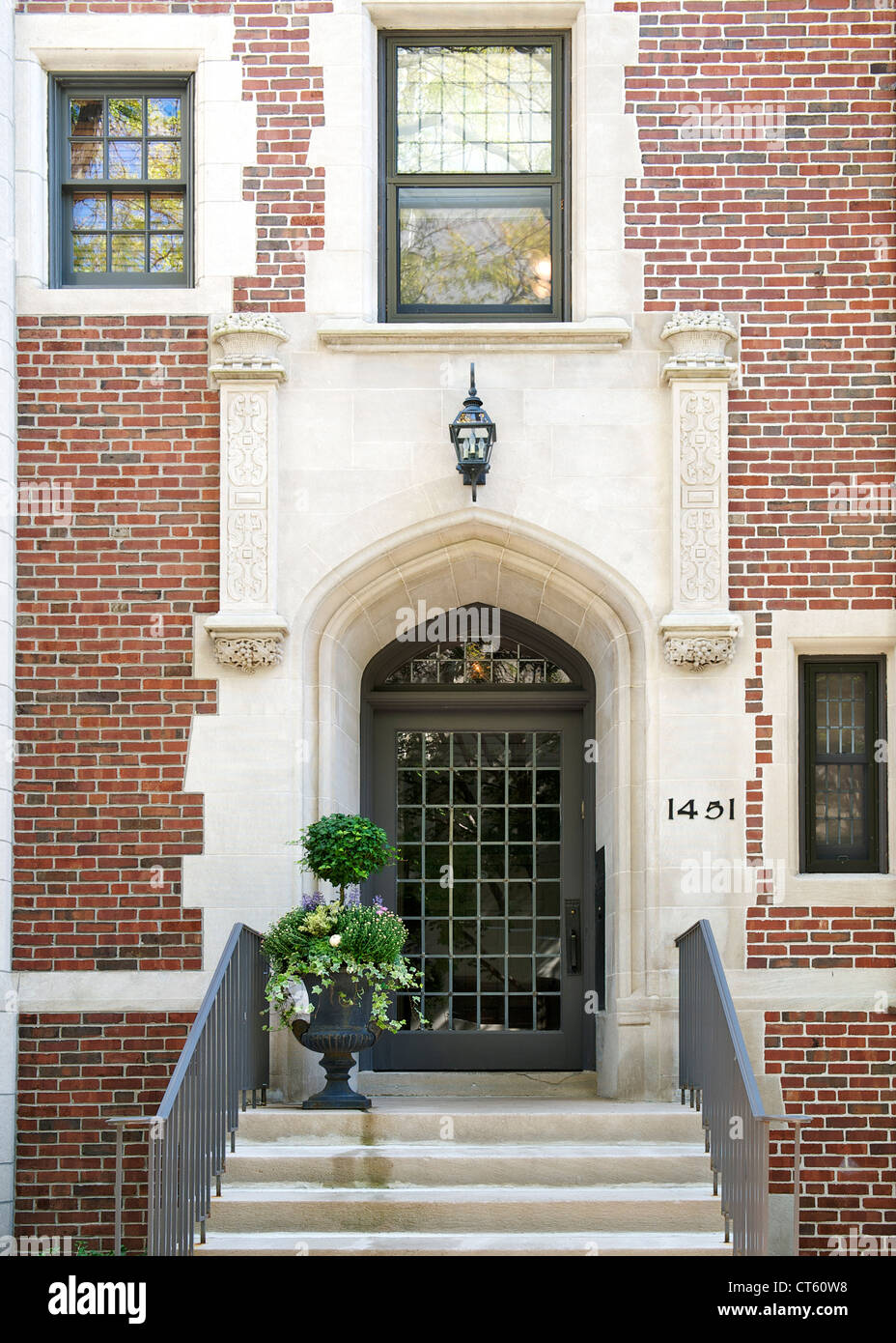 Peter Fortune House in the Astor district in Chicago. - Stock Image