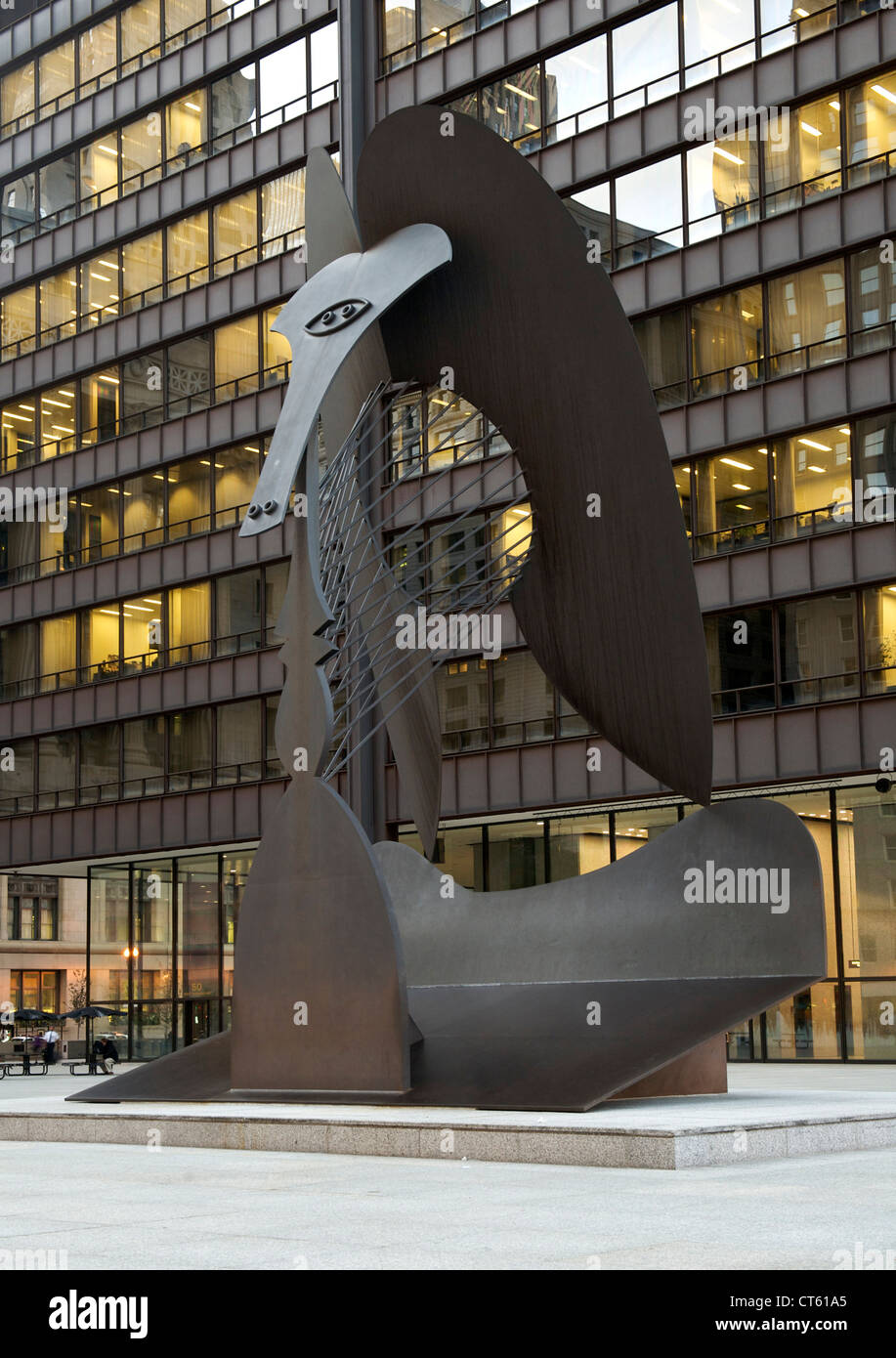 Sculpture in the plaza of the Richard J Daley Centre in Chicago, Illinois, USA. - Stock Image