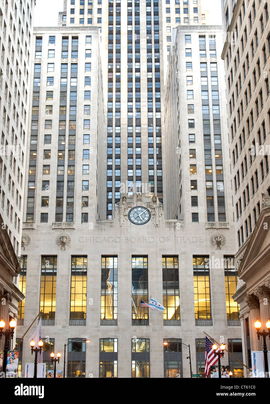 Chicago Board of Trade building in Chicago, Illinois, USA. - Stock Image