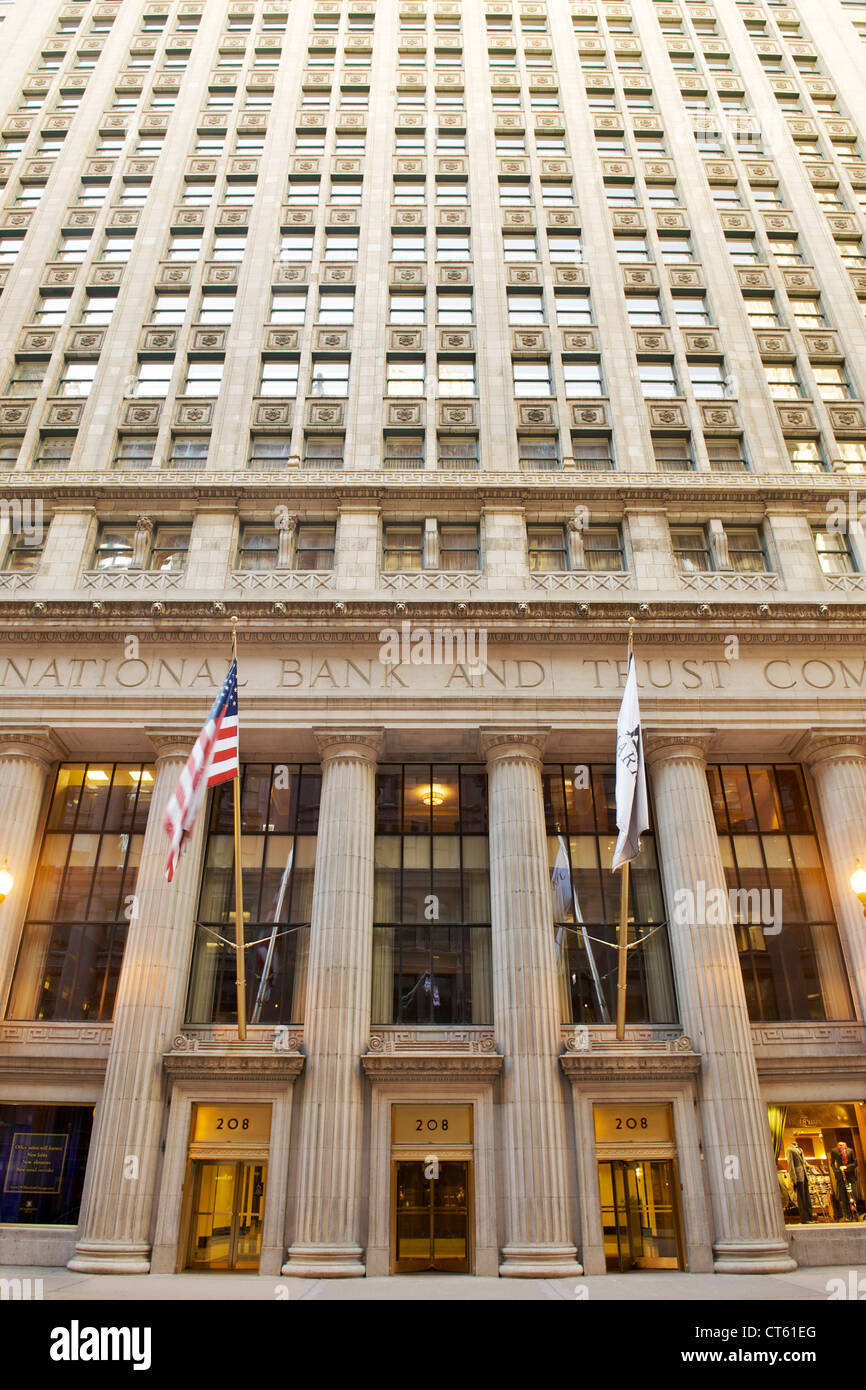 Continental National Bank Building in Chicago, Illinois, USA. - Stock Image