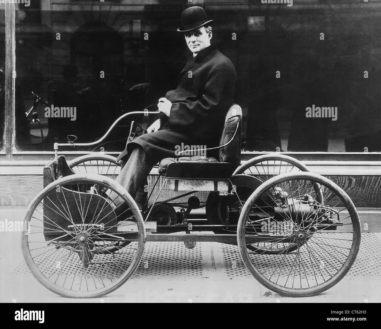 Henry Ford in his first automobile Stock Photo: 49306239 - Alamy