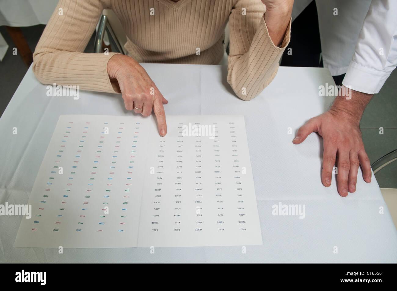 TESTING FOR ALZHEIMER'S DISEASE - Stock Image