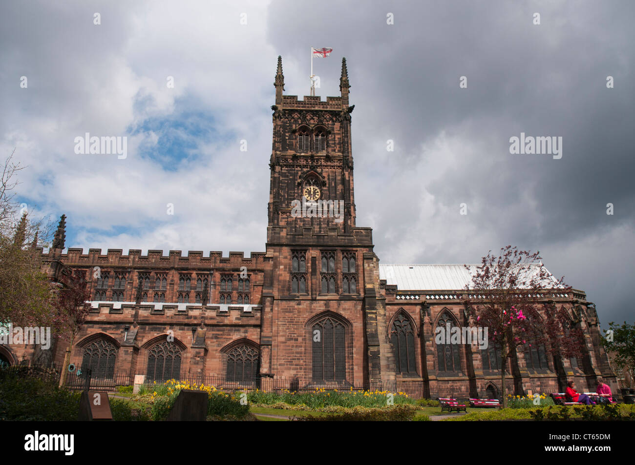 St Peter's Collegiate Church in Wolverhampton, West Midlands, England - Stock Image