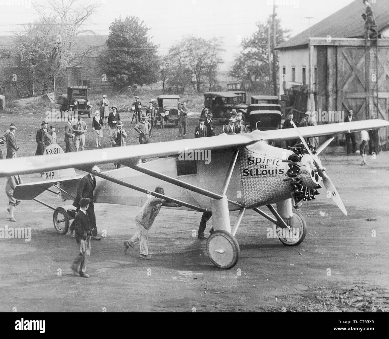 Charles Lindbergh's Spirit of St Louis, Long Island, New York - Stock Image