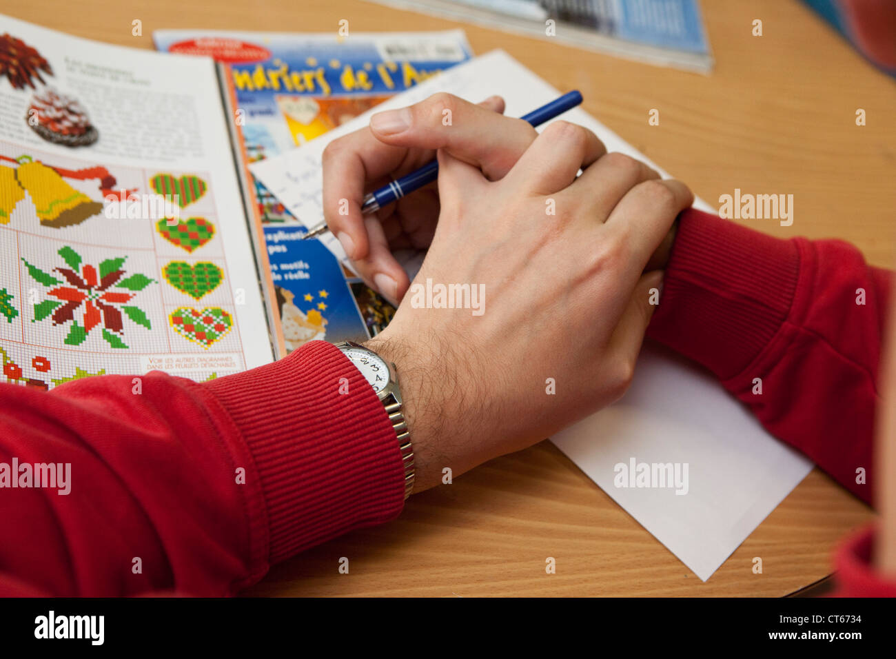 WORK THERAPY - Stock Image