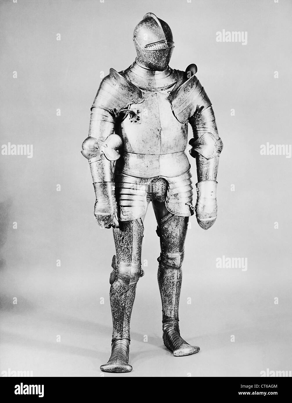 French suit of armor, circa 1527 - Stock Image