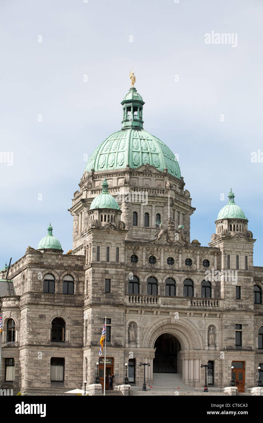 The government buildings in Victoria, British Columbia ...