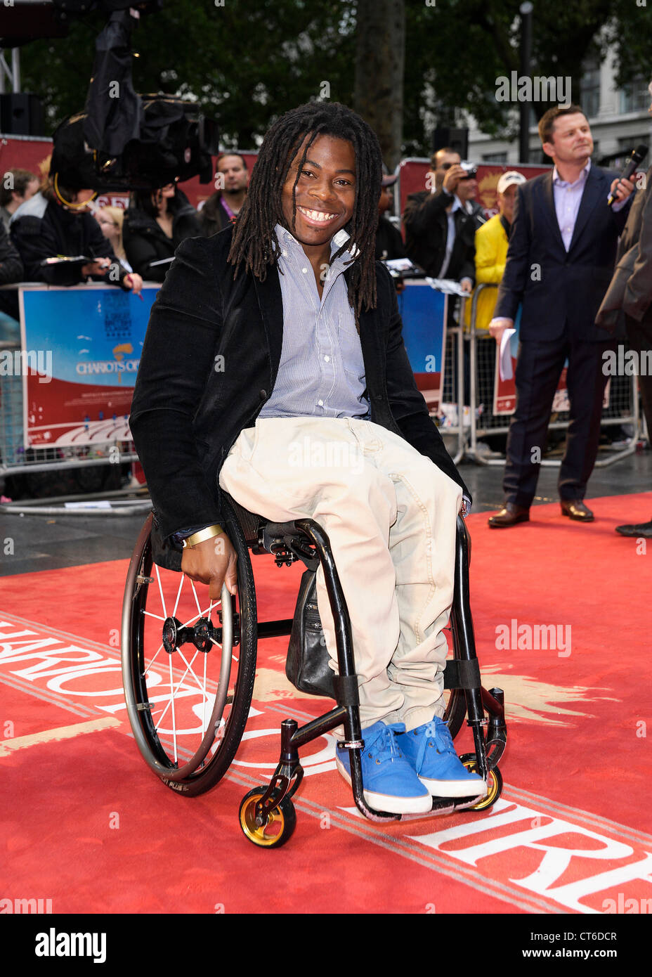 Ade Adepitan MBE  attends the Great British Premiere of Chariots of Fire on 10/07/2012 at The Empire, Leicester - Stock Image