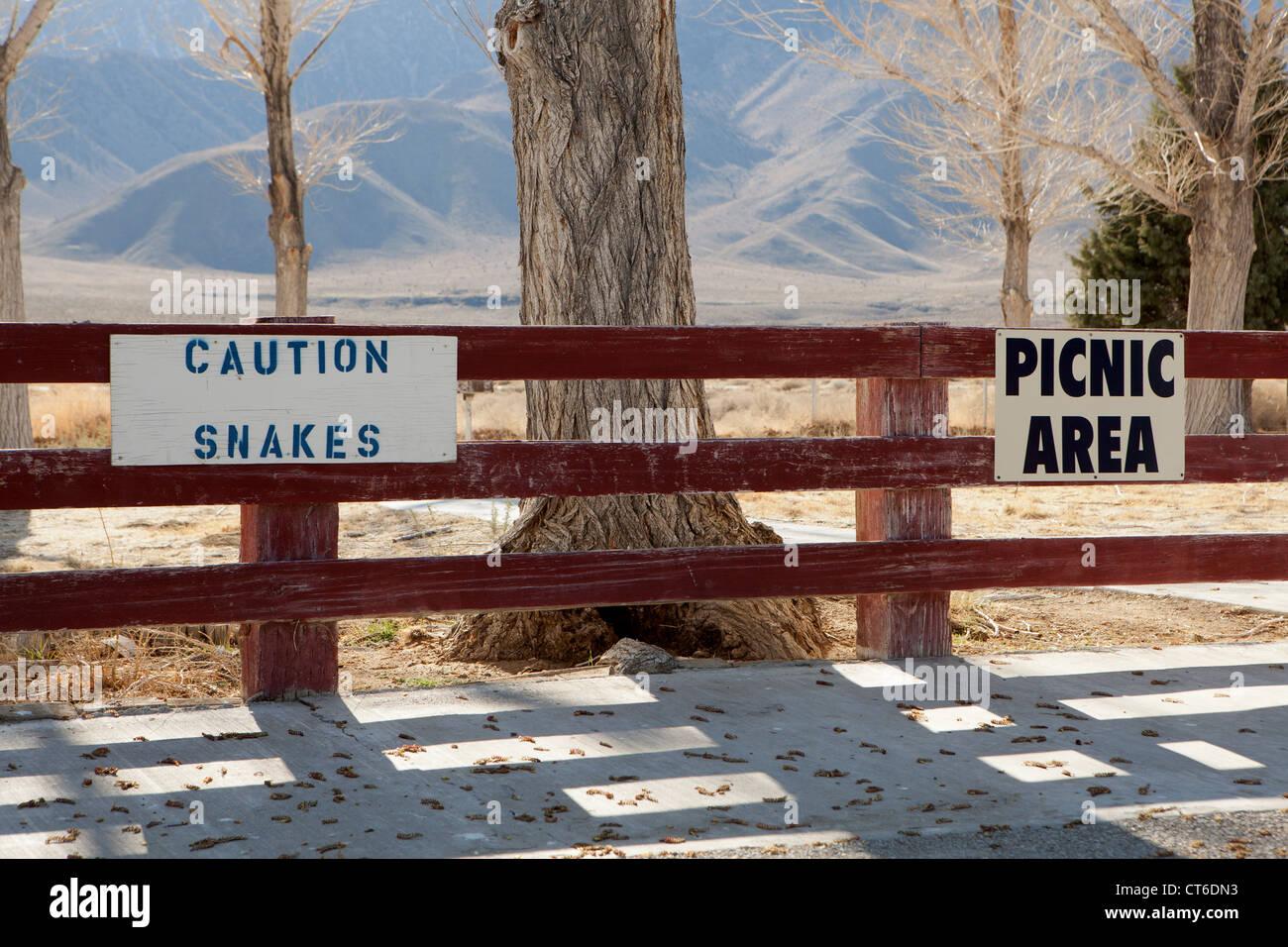 Amusing signs in California - Stock Image