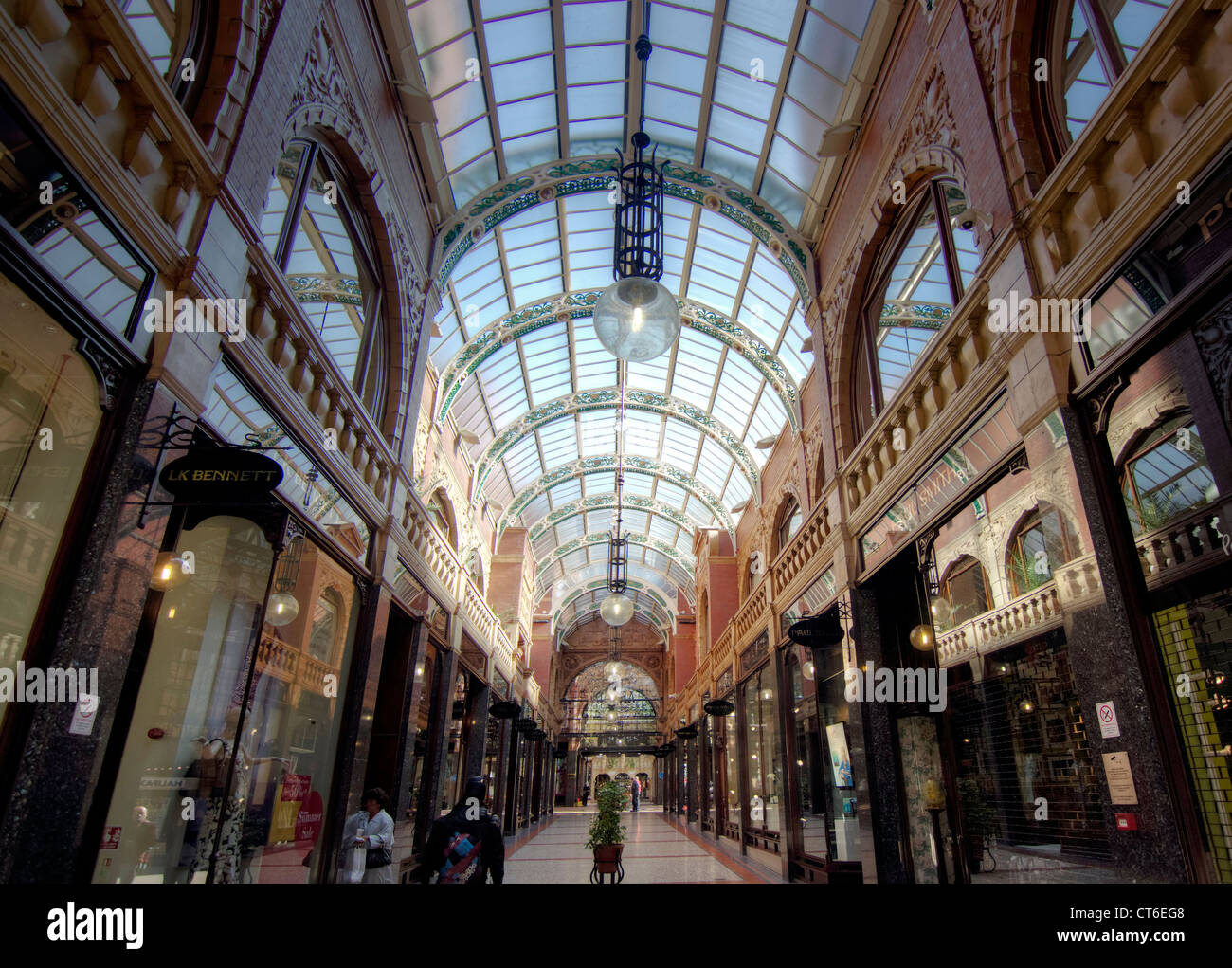 Victoria Quarter shopping Mall in Leeds - Stock Image