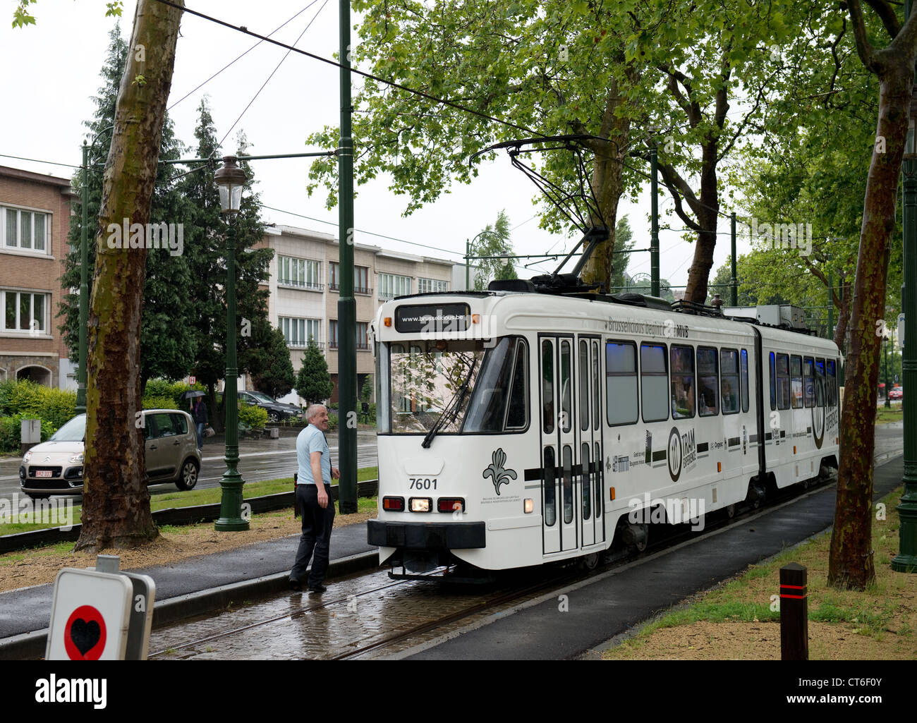 Brusselicious Luncheon Tram No. 7601 -1 - Stock Image