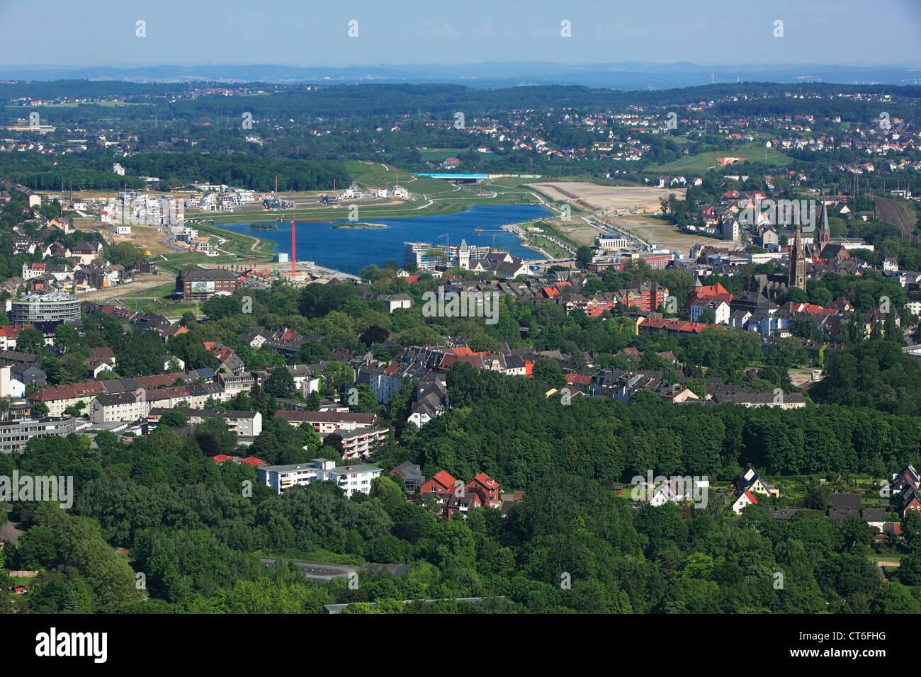 D-Dortmund, Ruhr area, Westphalia, North Rhine-Westphalia, NRW, D-Dortmund-Hoerde, city view, aerial view, Phoenix Stock Photo