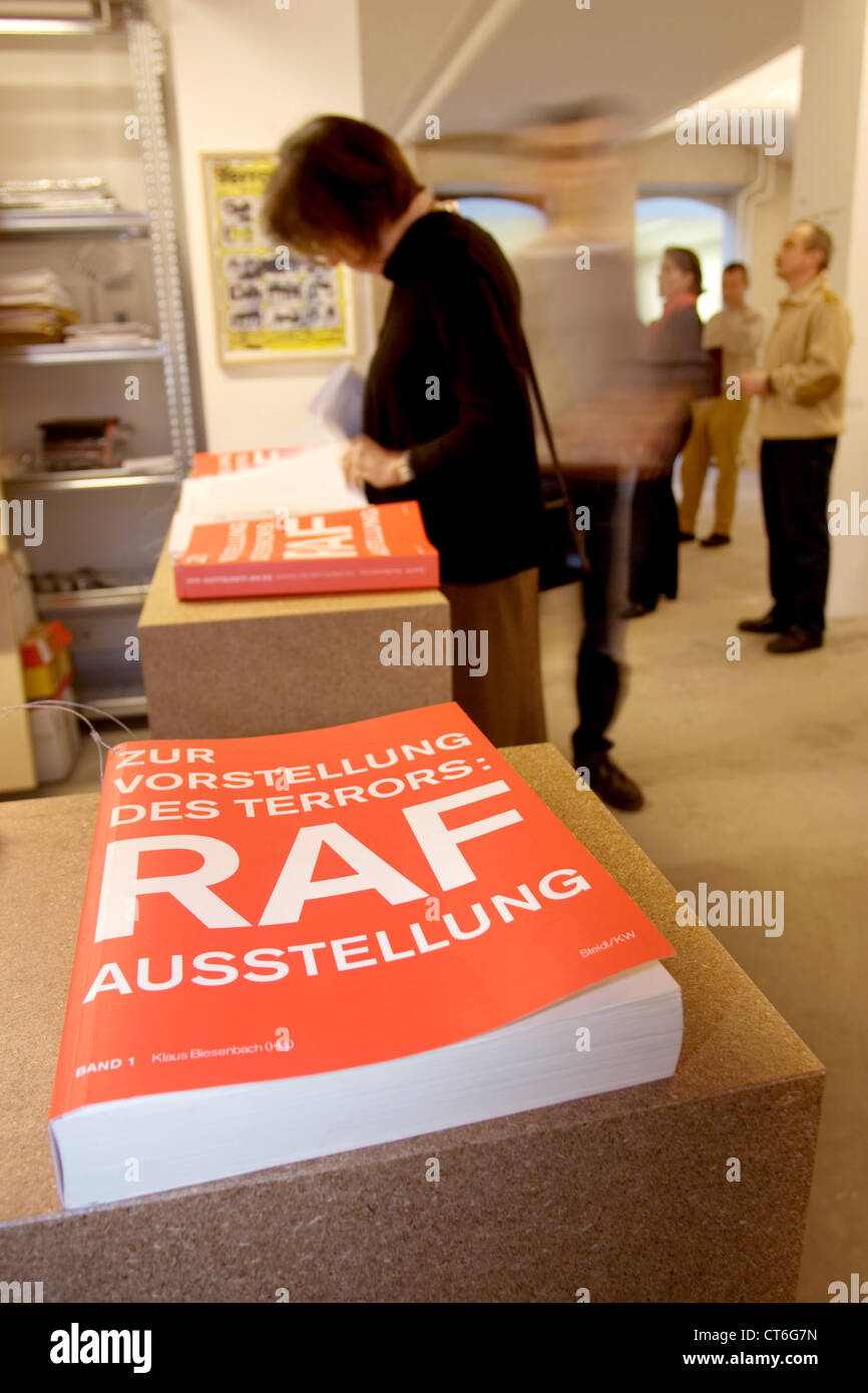 The RAF Exhibition at KW Institute for Contemporary Art in Berlin - Stock Image