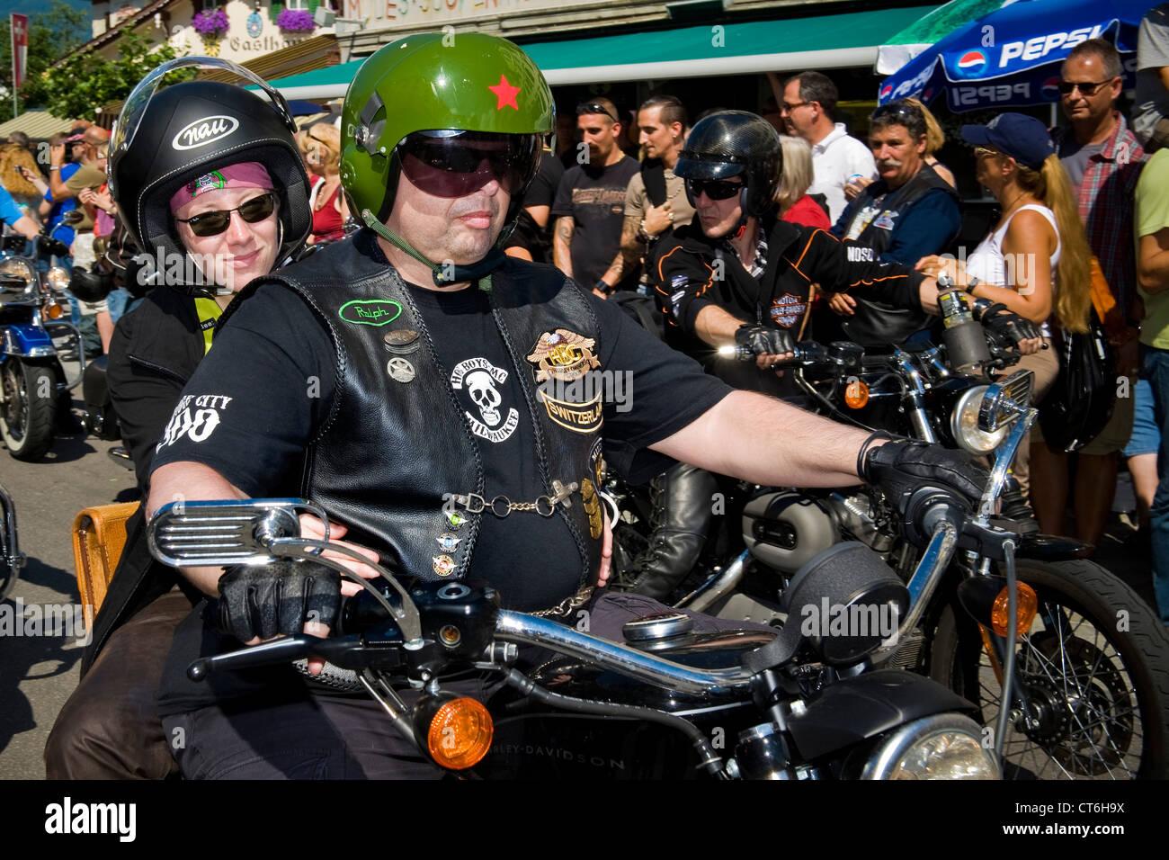 Switzerland Brunnen Harley Davidson Festival Stock Photos ...