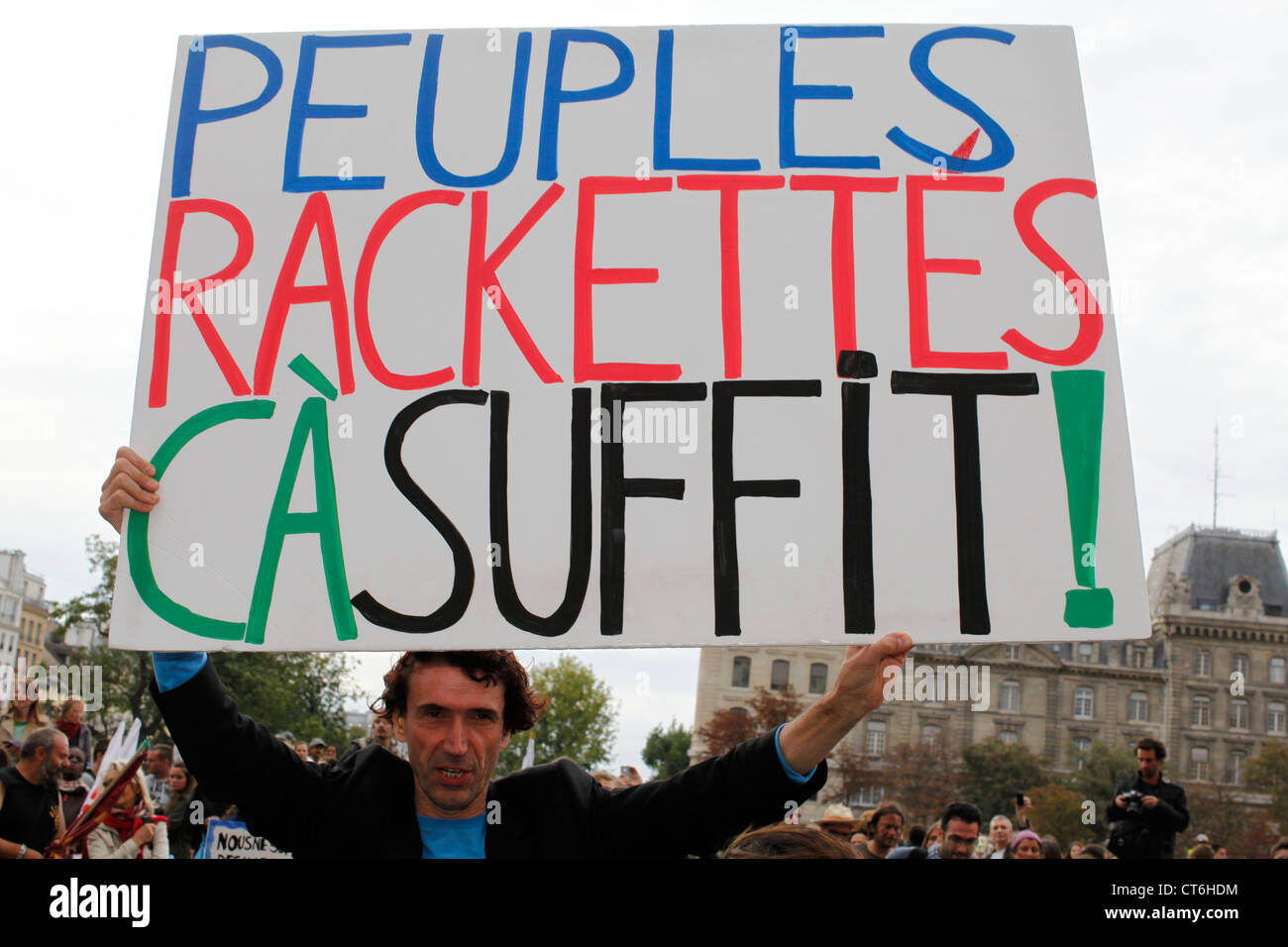Anticapitalist demonstration - Stock Image