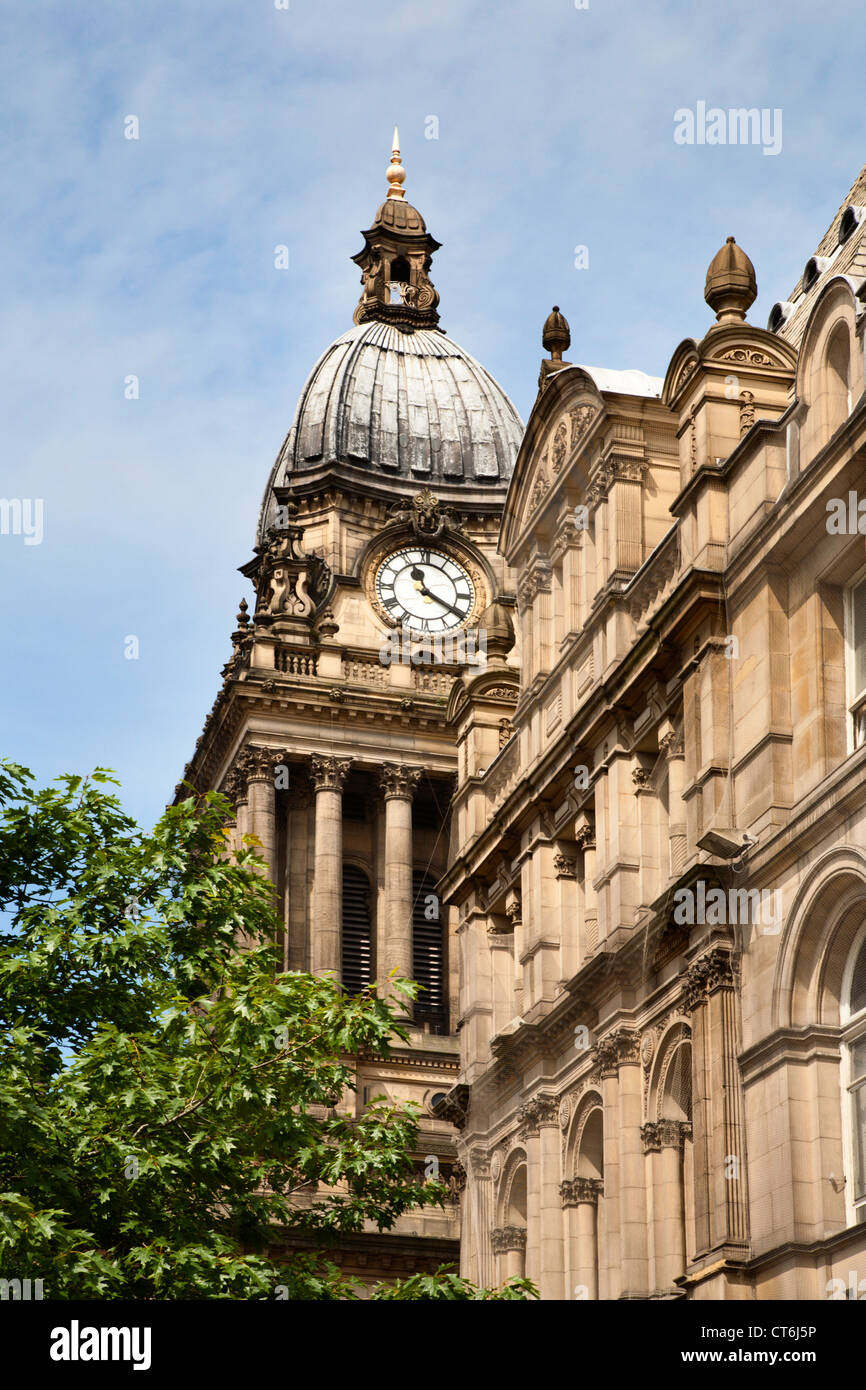 Leeds Town Hall Leeds West Yorkshire UK - Stock Image