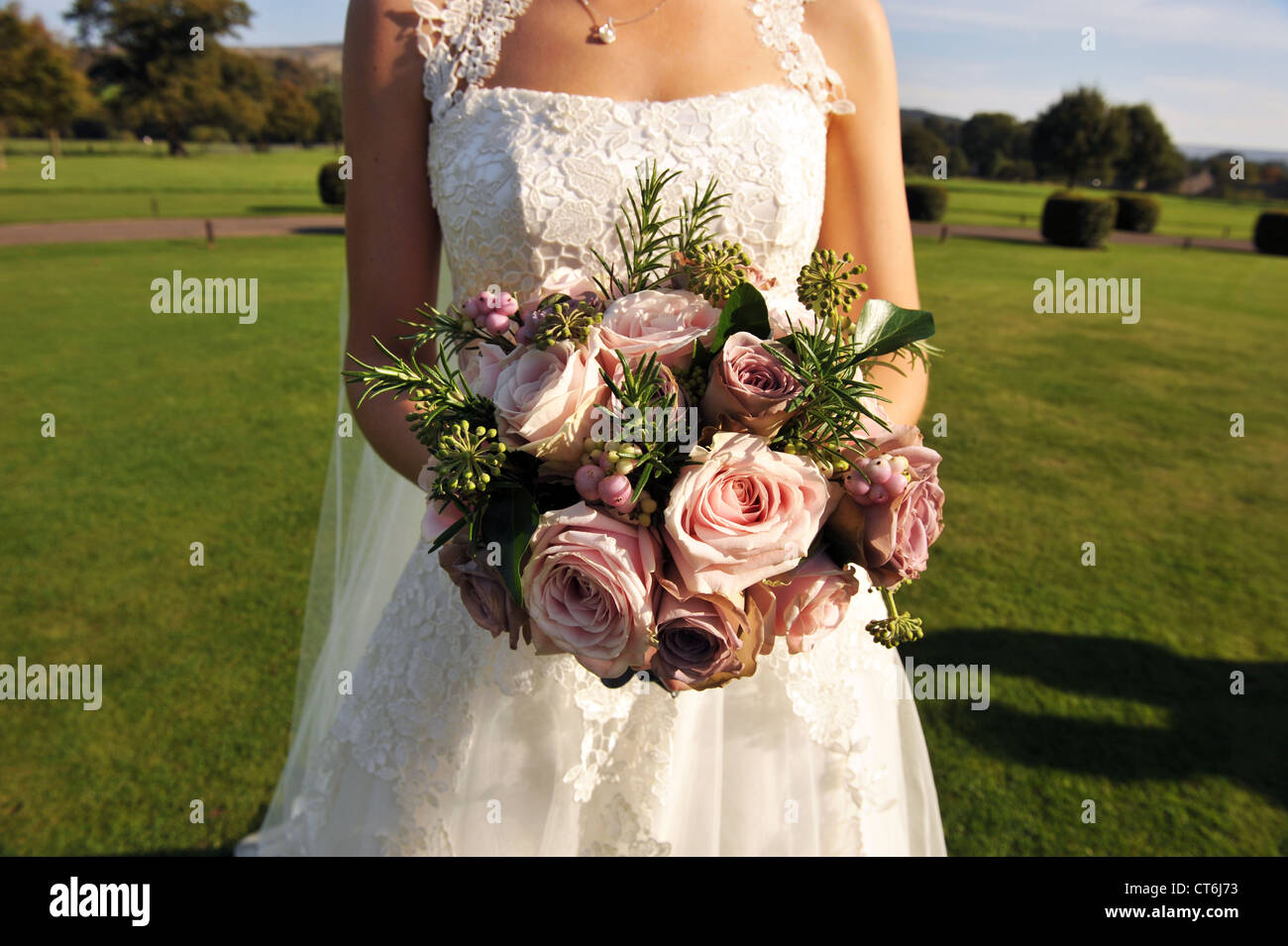Bridal Bouquet Pink Roses Stock Photos Bridal Bouquet Pink Roses