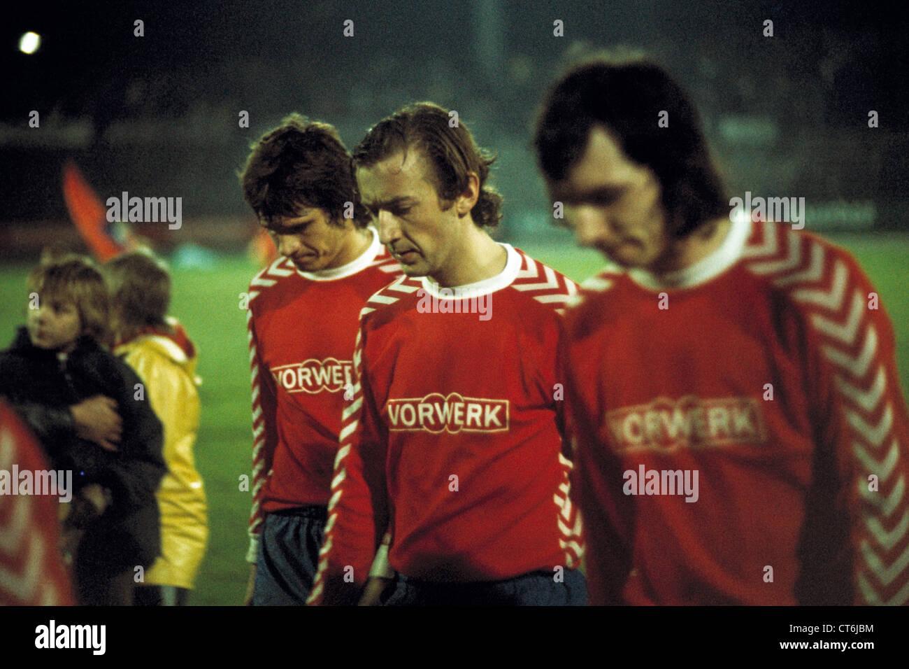 sports, football, Bundesliga, 1974/1975, Wuppertaler SV versus Borussia Moenchengladbach 1:5, Zoo Stadium in Wuppertal, - Stock Image