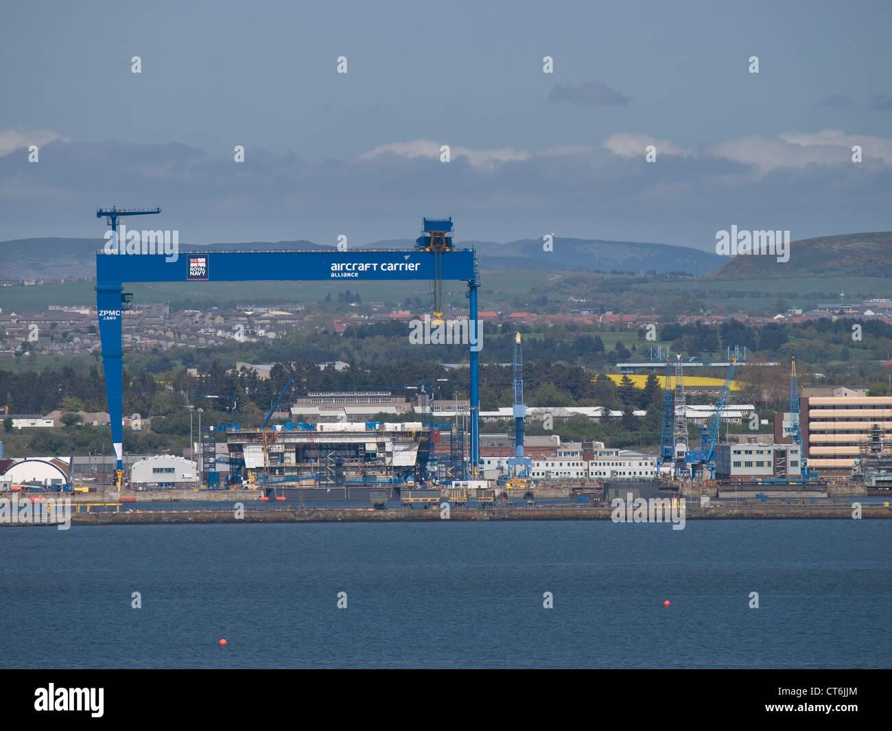 Rosyth Dockyard Fife Scotland Stock Photo