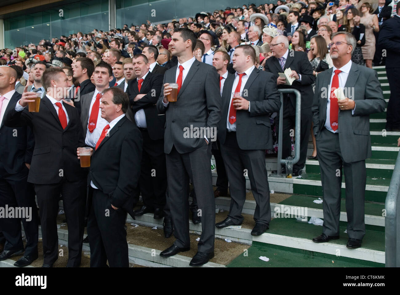 Stag party group. Royal Ascot horse racing Berkshire. HOMER SYKES - Stock Image