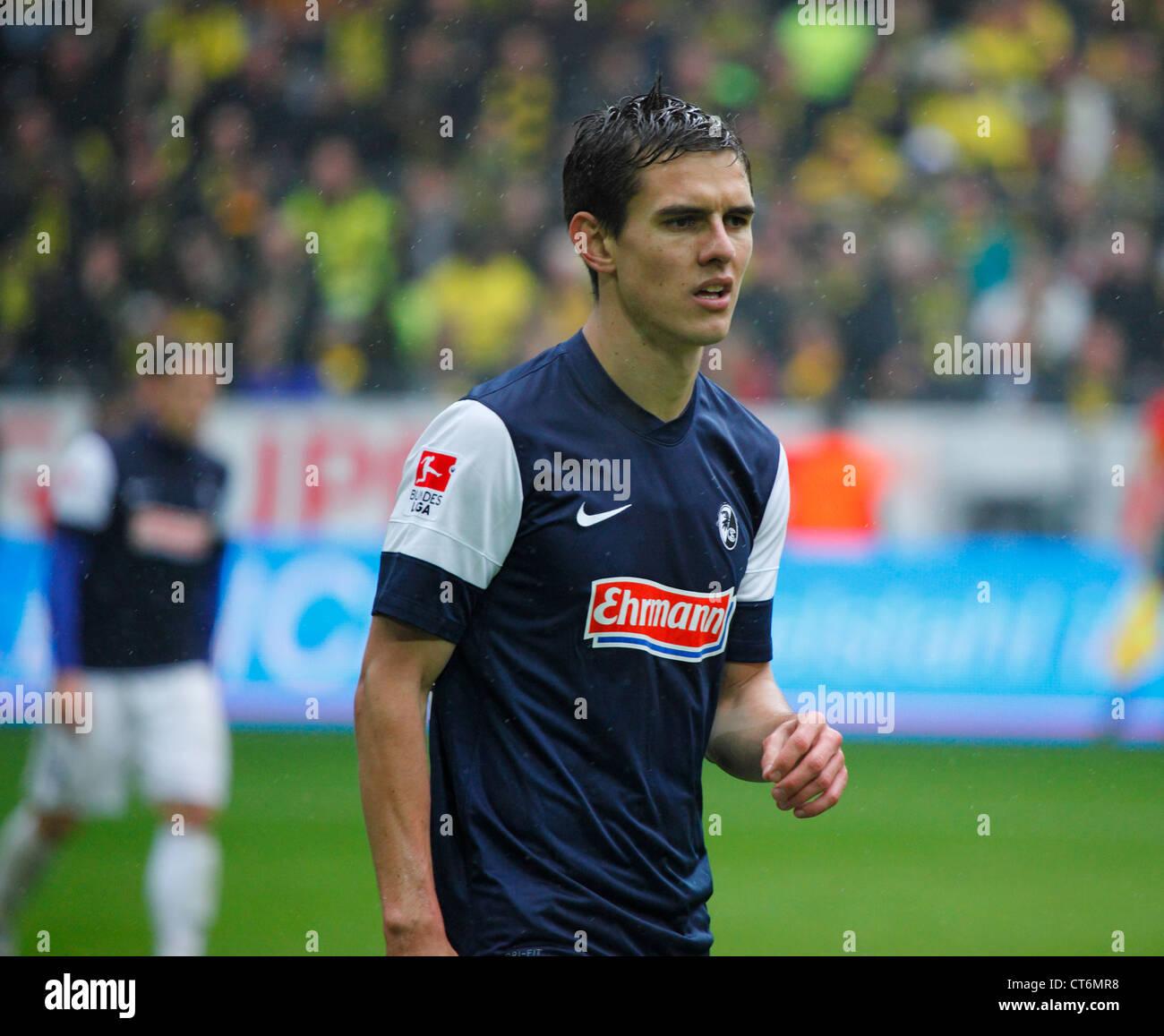 sports, football, Bundesliga, 2011/2012, Borussia Dortmund versus SC Freiburg 4:0, Stadium Signal Iduna Park in - Stock Image