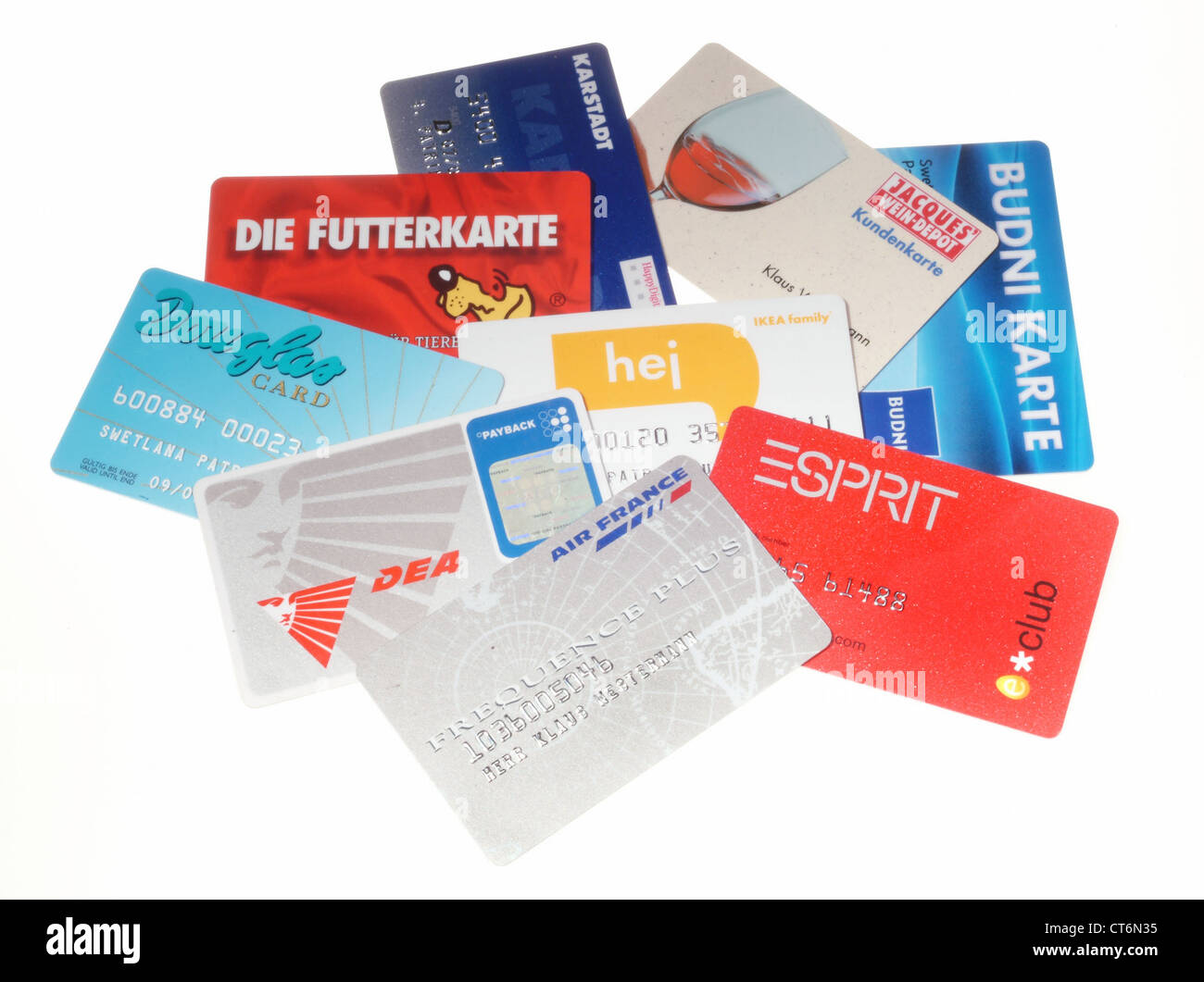 various payback cards