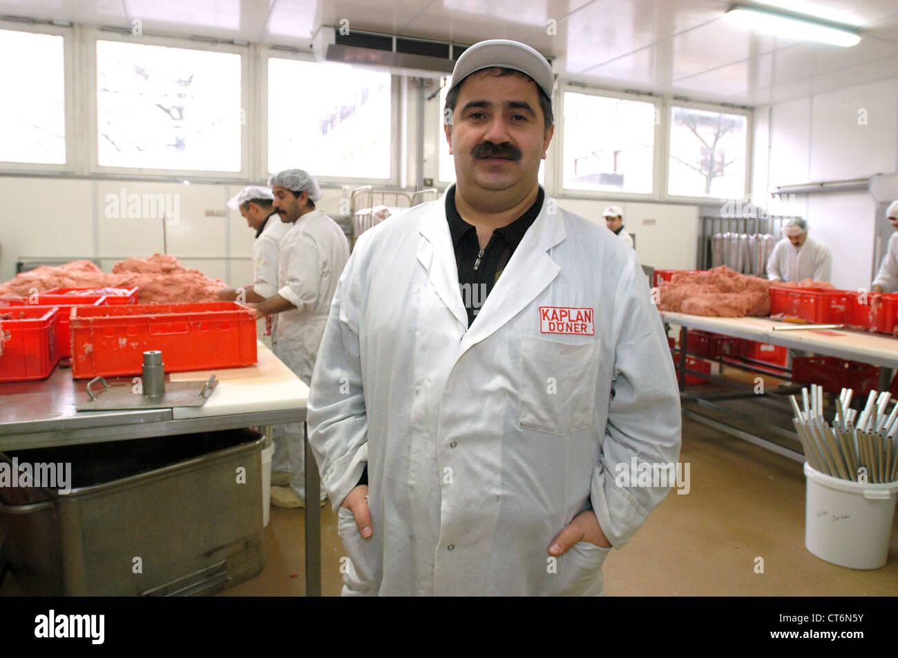 Doenerproduzent Remzi Kaplan, Berlin - Stock Image