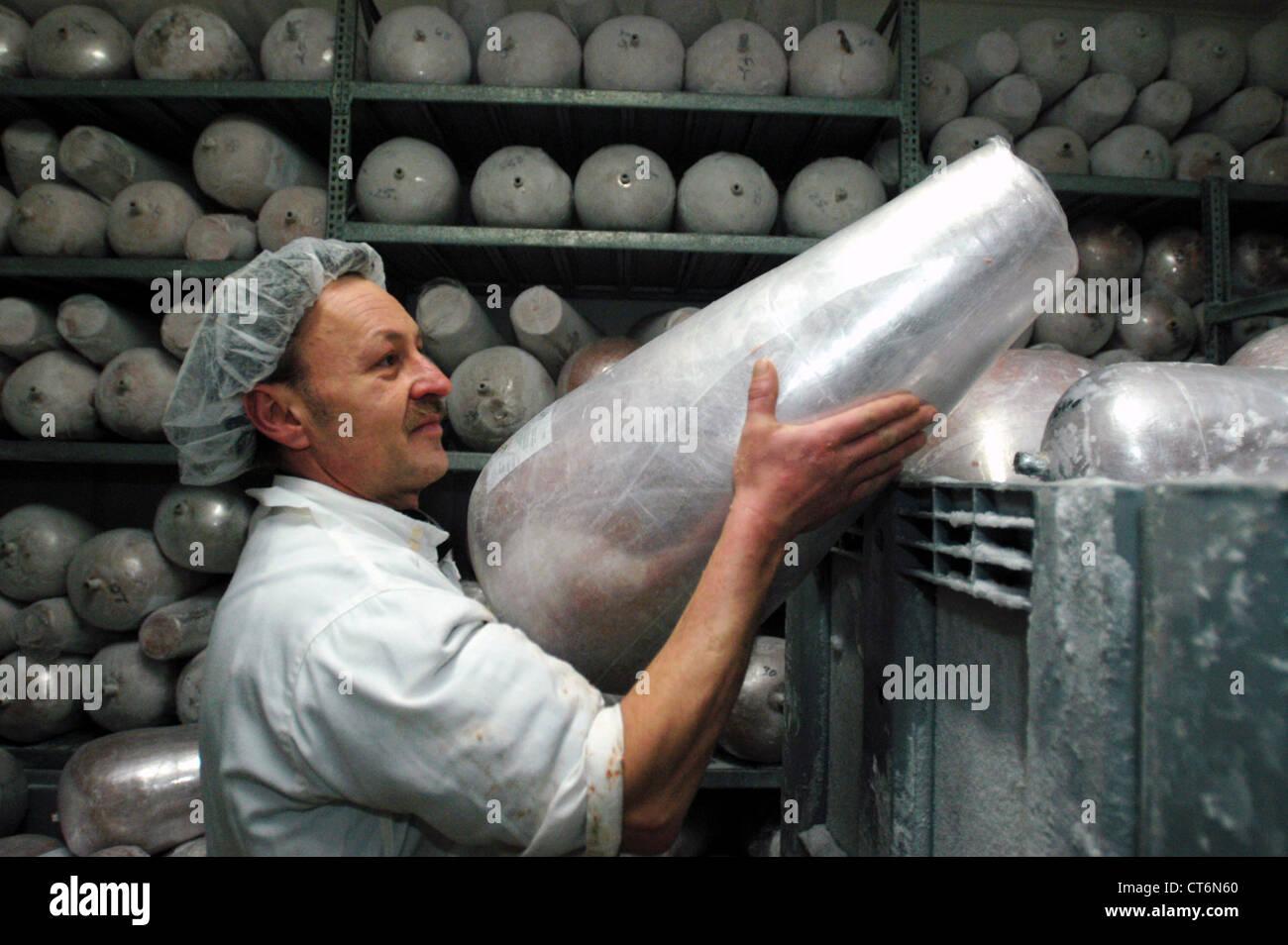 Doenerproduktion at Kaplan, Berlin - Stock Image
