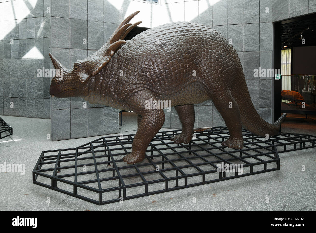 D-Dortmund, Ruhr area, Westphalia, North Rhine-Westphalia, NRW, museum of natural history, reconstruction of Dinosaurs, - Stock Image