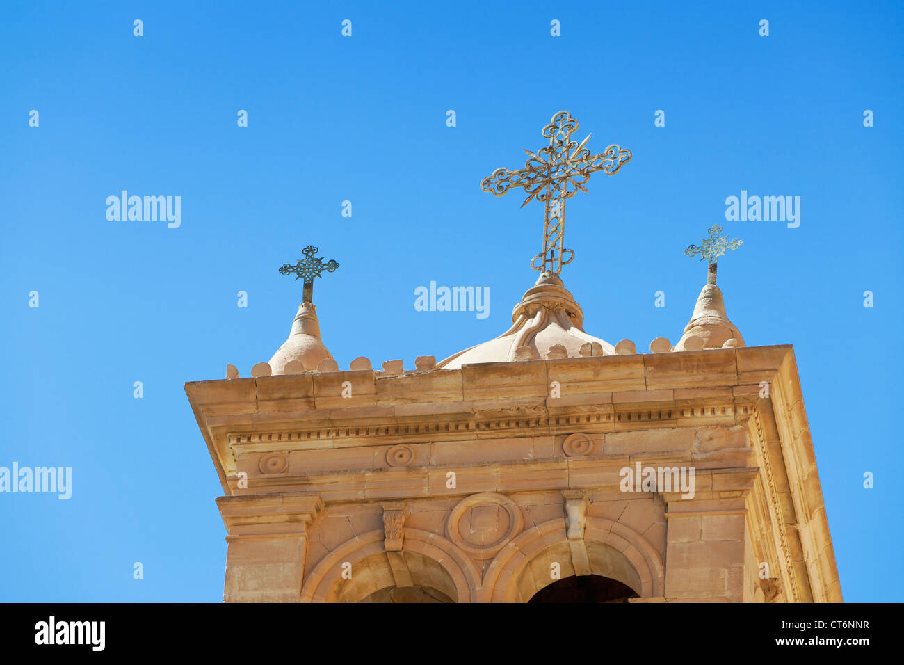 Detail of the bell tower of the Church of the transfiguration at St Catherine monastery,Sinai, Egypt - Stock Image