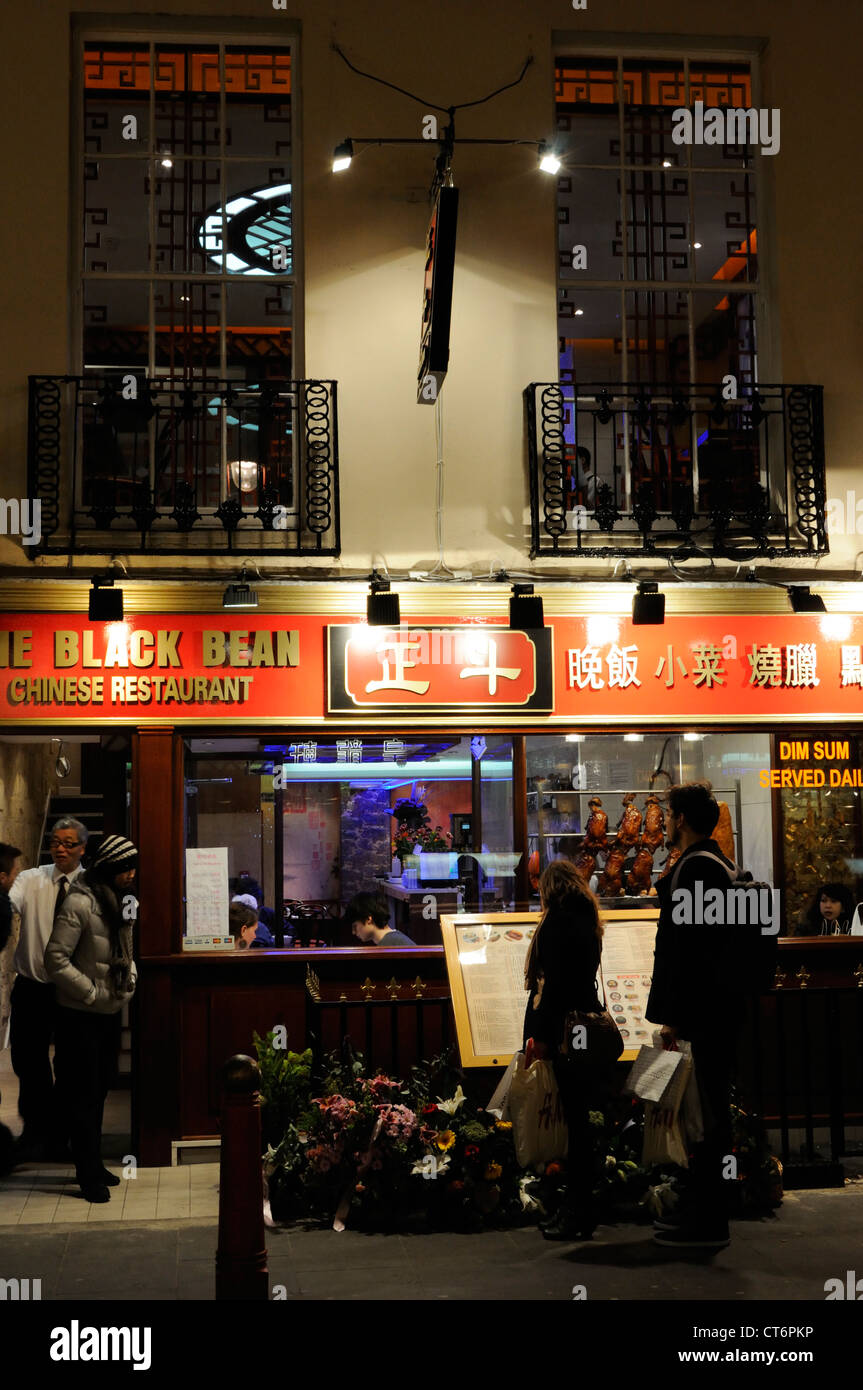 Restaurant in Chinatown, London Stock Photo