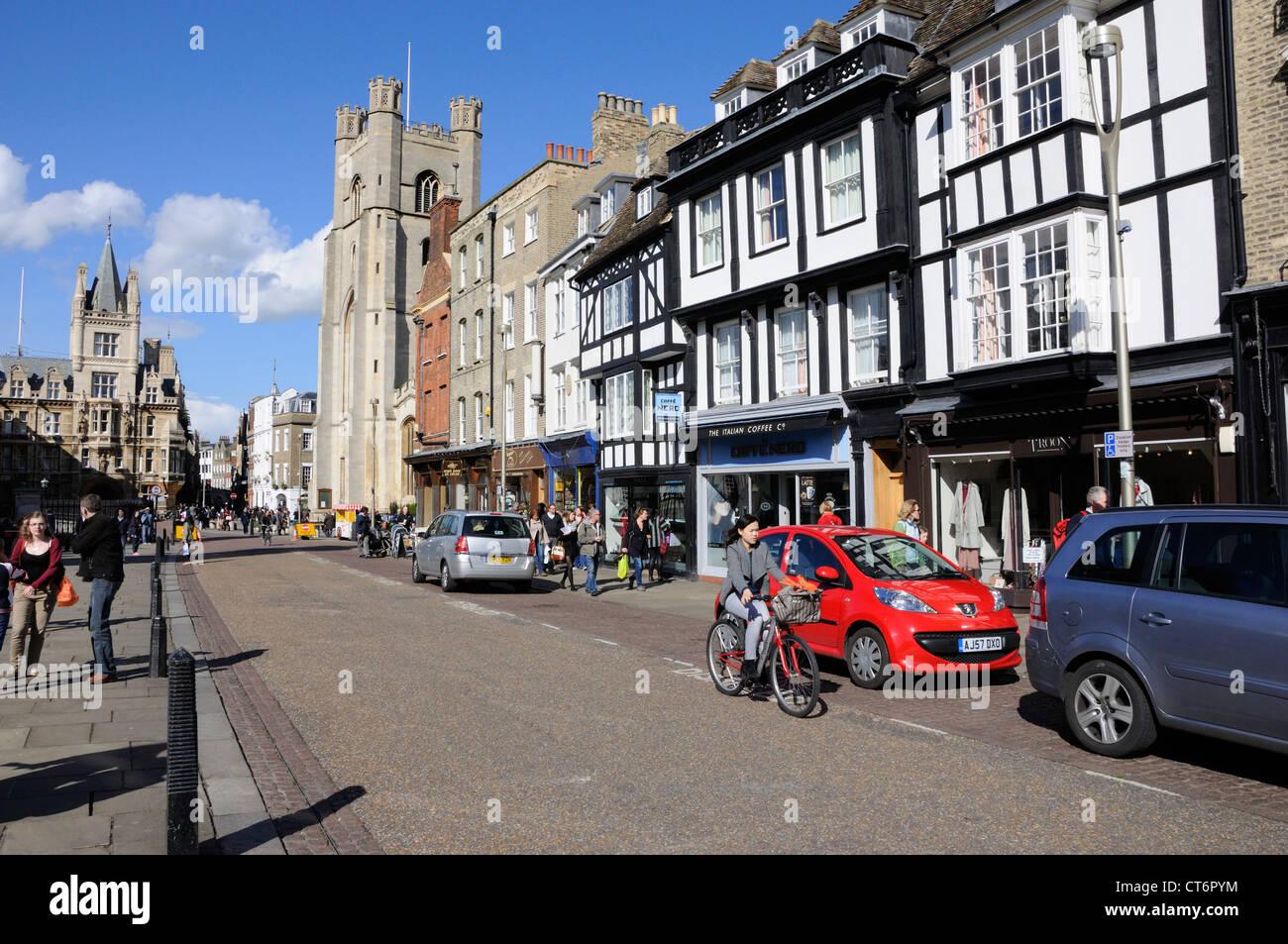 King's Parade, Cambridge - Stock Image
