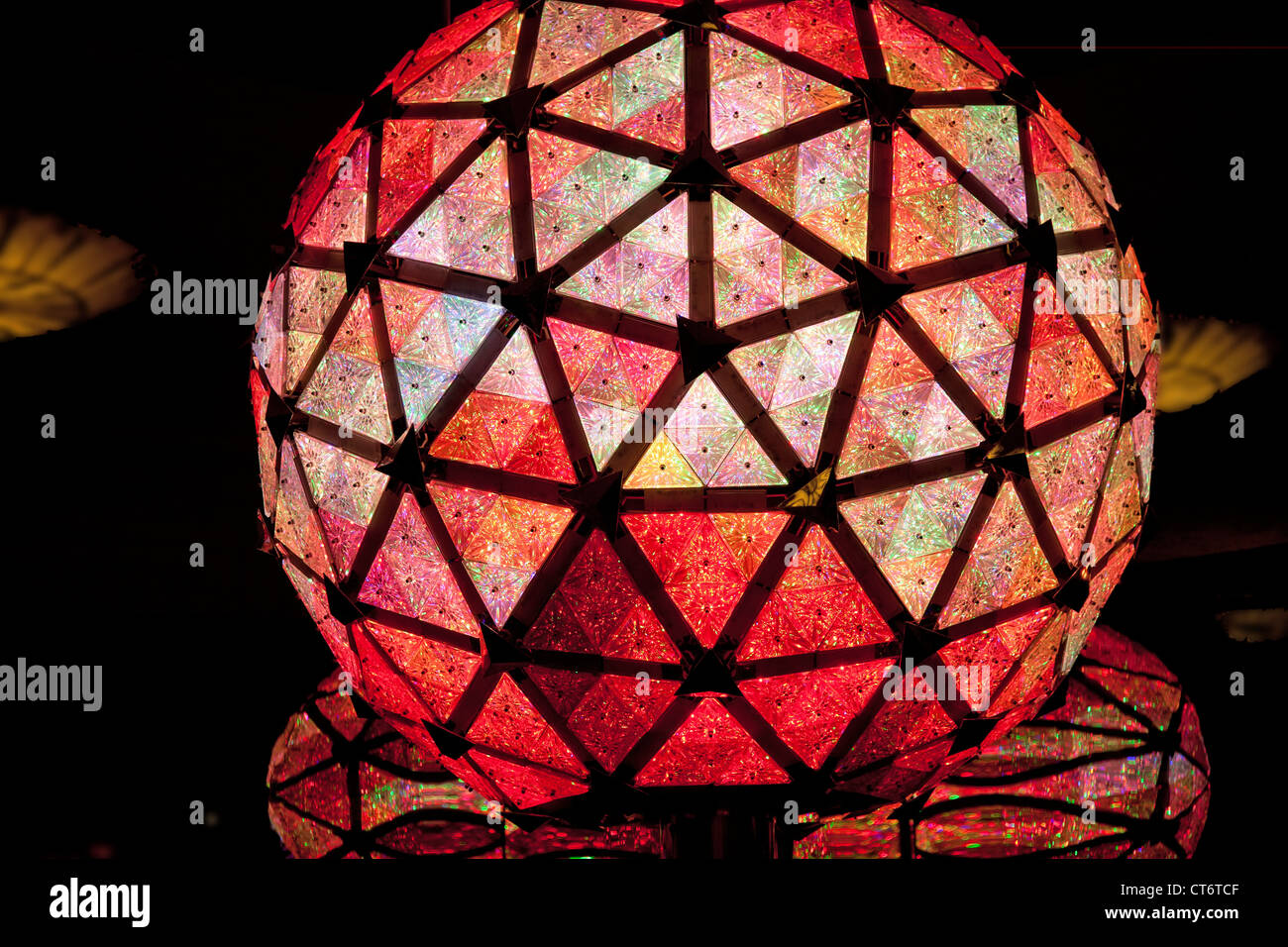 United States of America. New York. Manhattan. Time Square. Crystal ball. - Stock Image