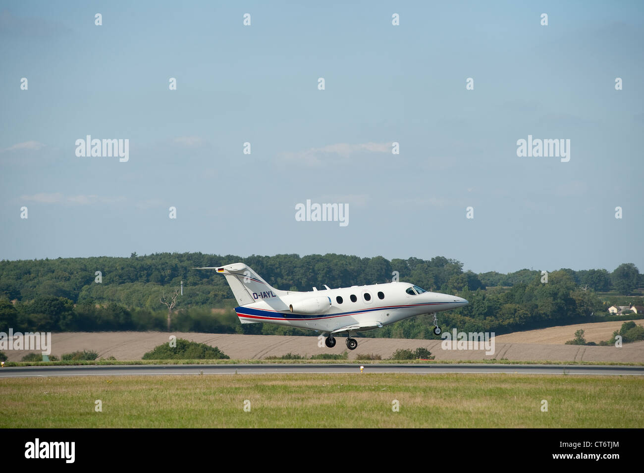 Hawker Beechcraft 390 Premier 1A at Luton airport, England. - Stock Image