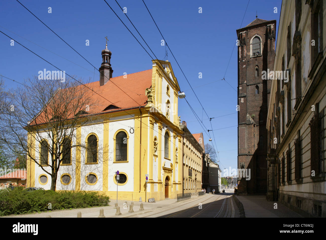 St Anne's Church, Wyspa Piasek, Wroclaw, or Breslau, Poland. Stock Photo