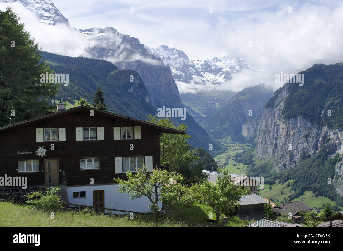 Landscape, Lauterbrunnen, Switzerland - Stock Image
