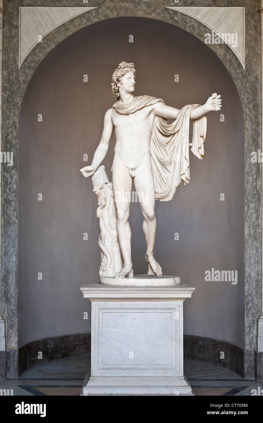The Vatican Museums' Apollo Belvedere - Stock Image