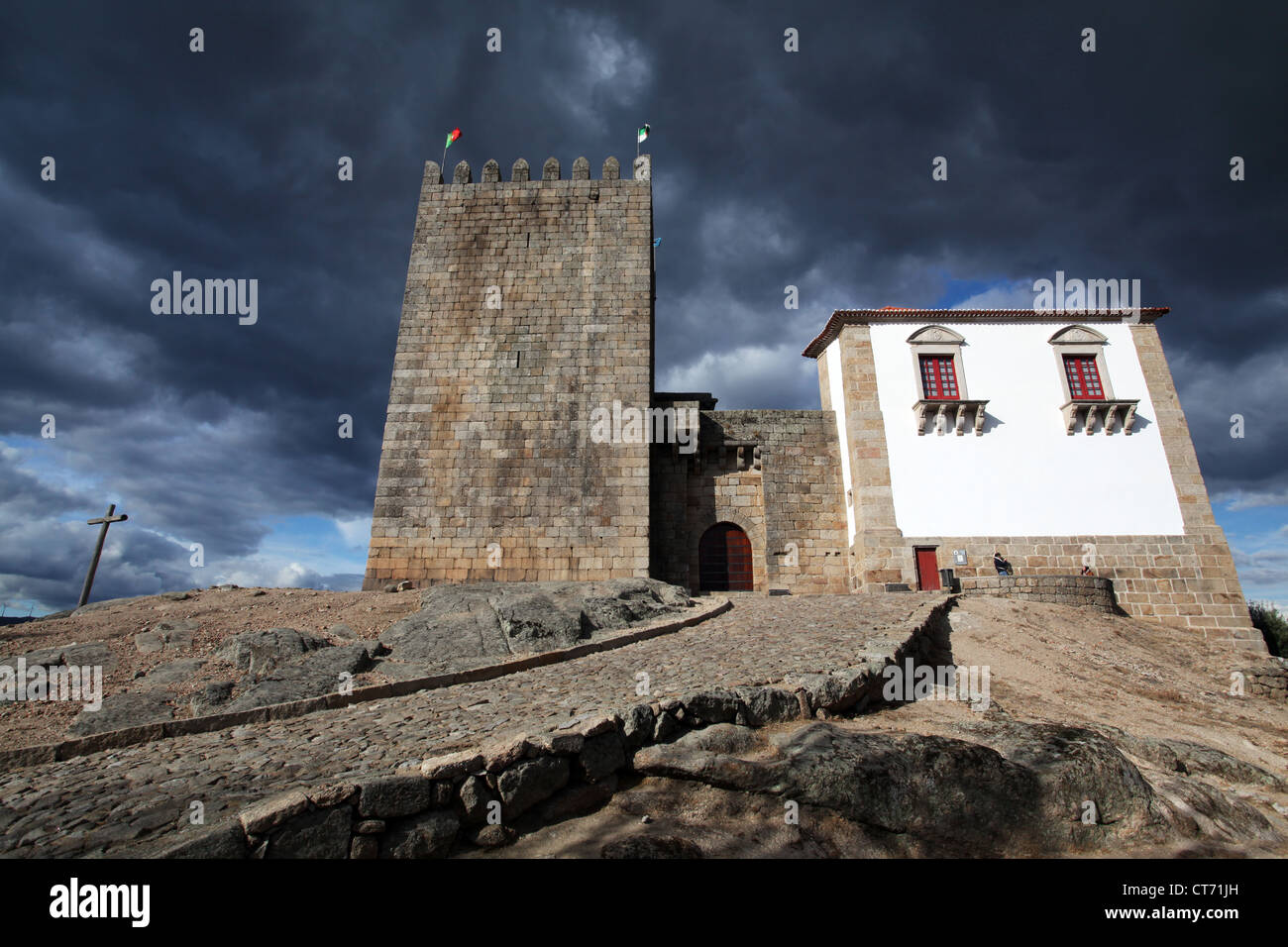 The castle of Belmonte, Portugal, former house of Pedro Álvares Cabral - Stock Image