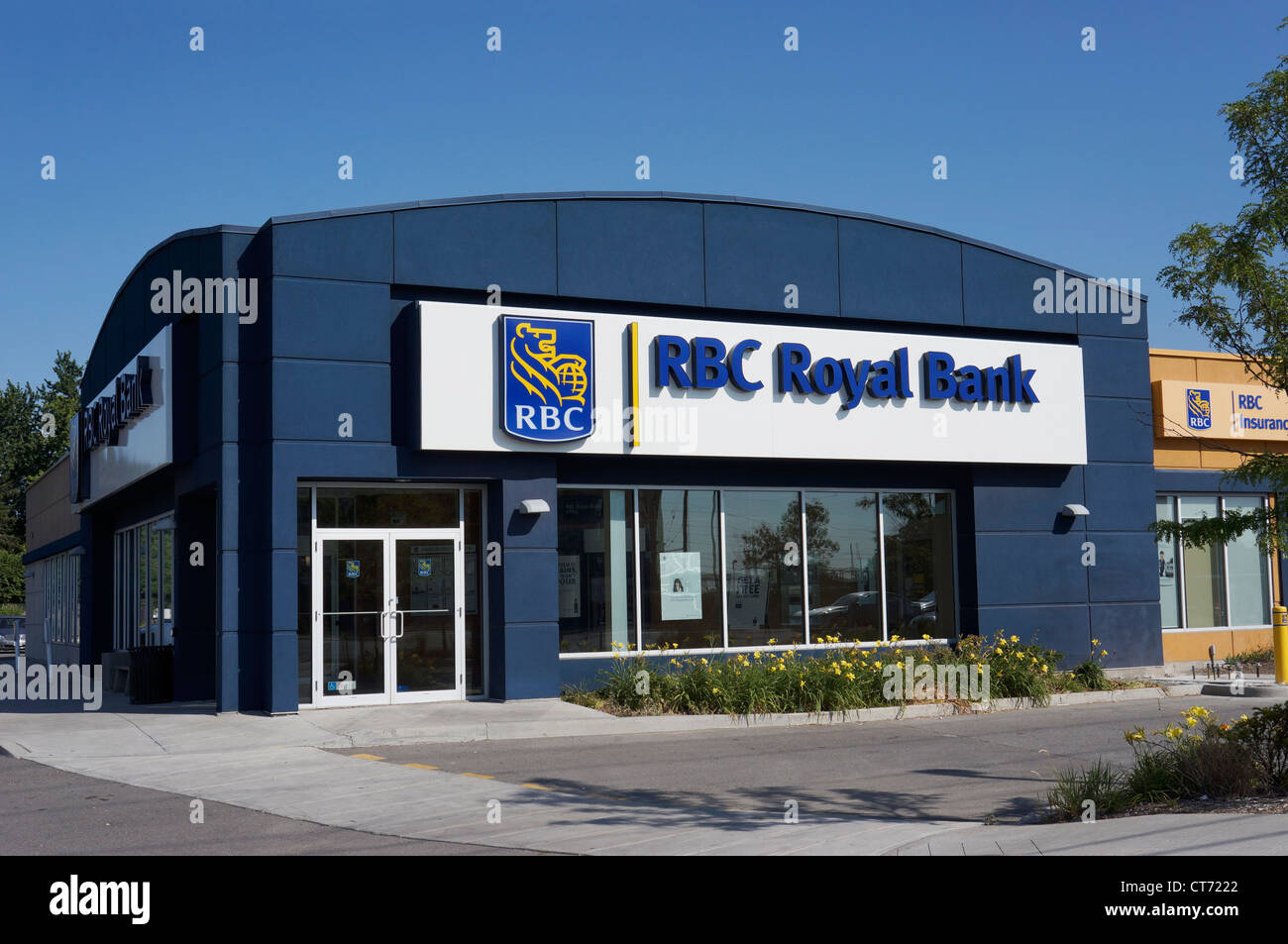 Local Branch Royal Bank of Canada, Insurance - Stock Image
