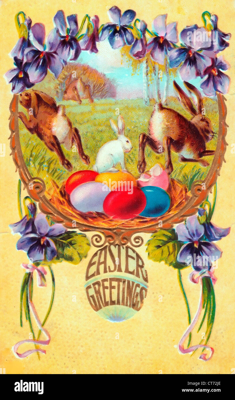 Easter Postcard Stock Photos Easter Postcard Stock Images Alamy