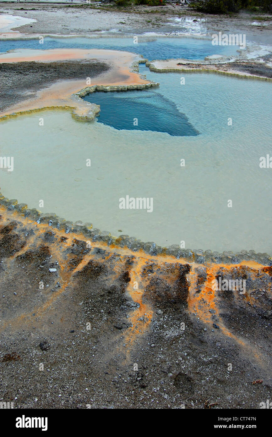 Doublet Pool, Upper Geyser Basin, Yellowstone National Park Stock Photo