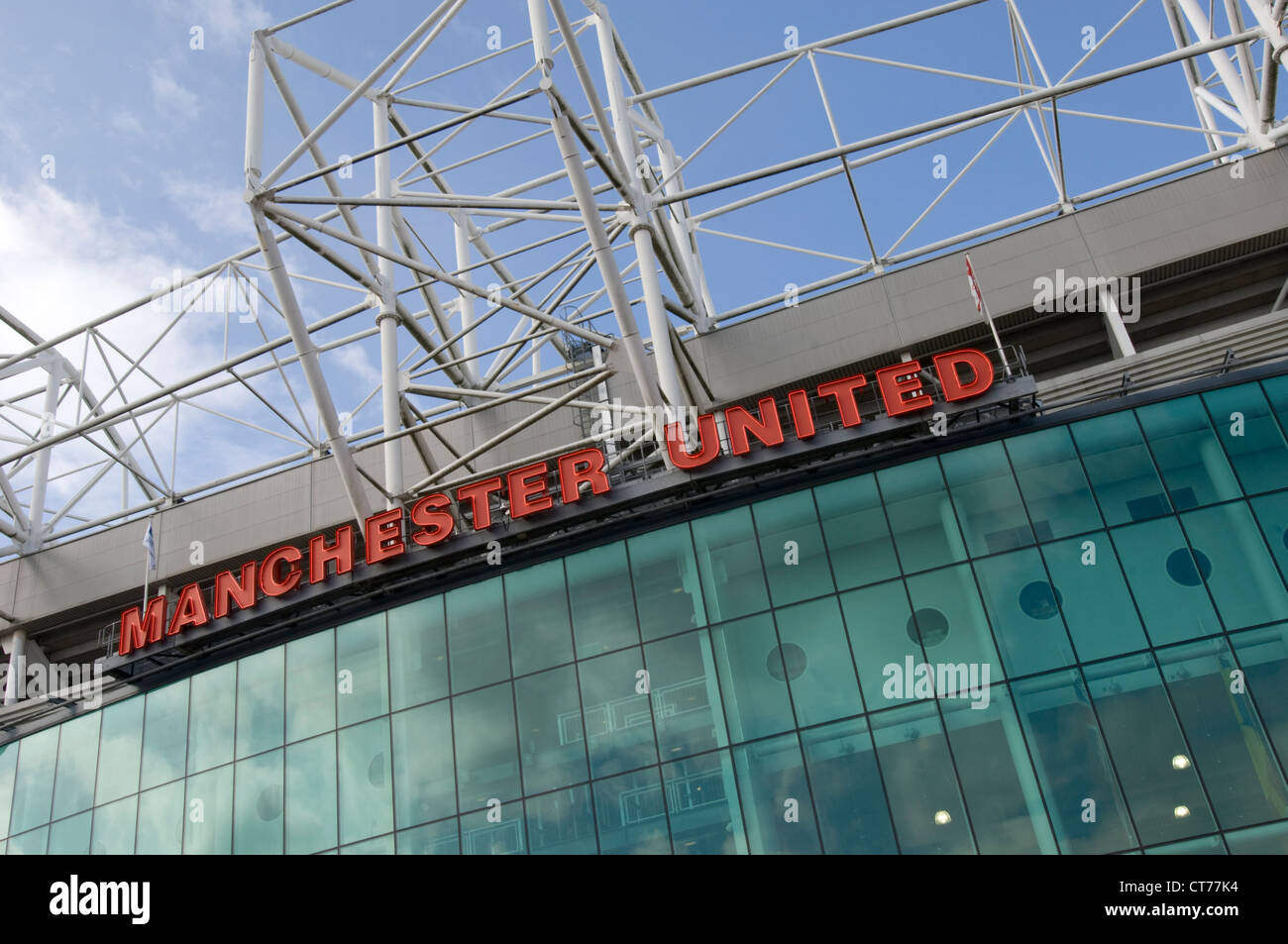 detail of Manchester United Football Club's stadium Old Trafford - Stock Image