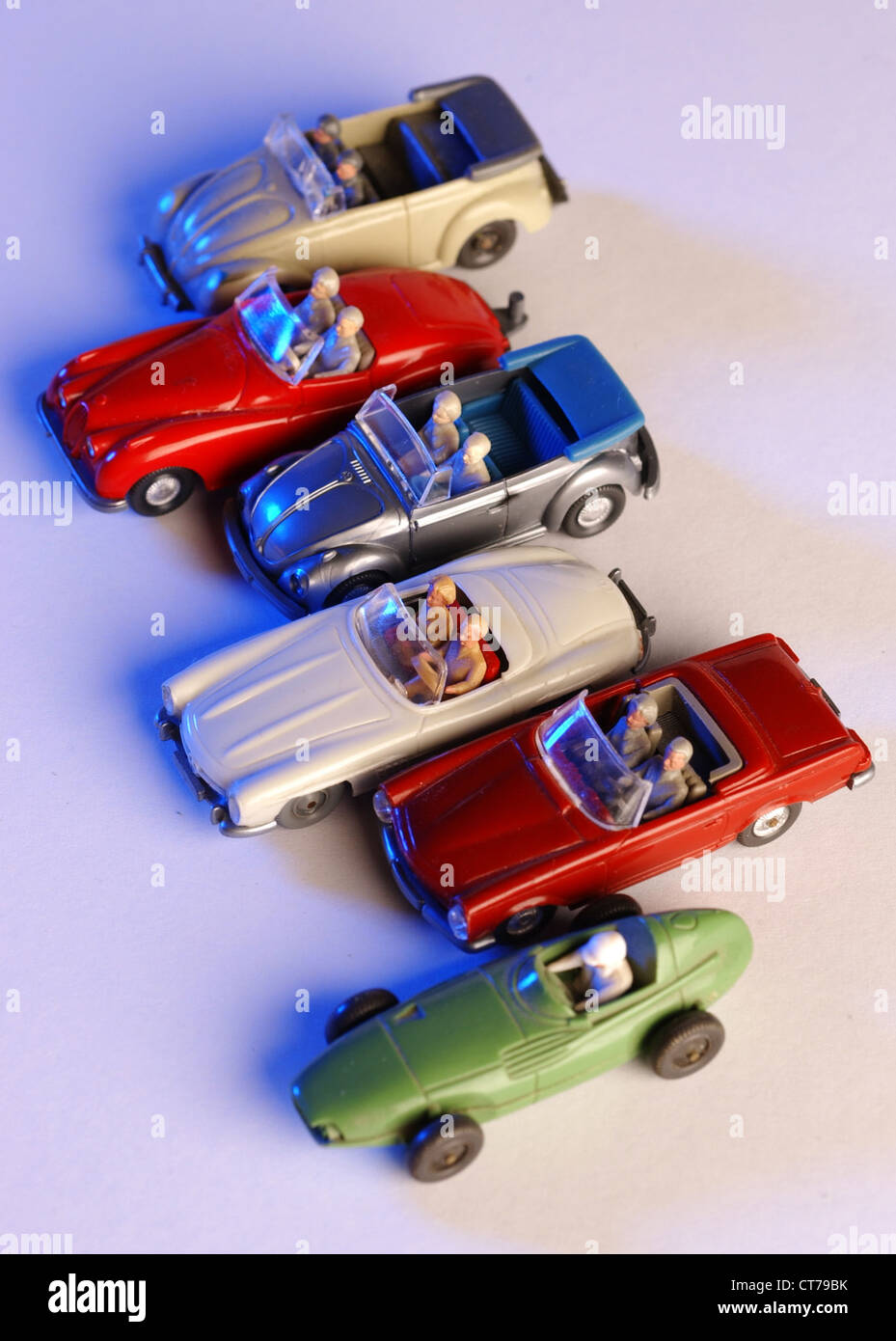 Wiking model cars, convertibles - Stock Image