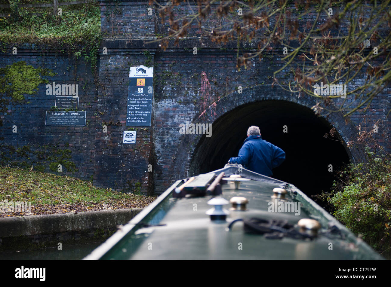 entrance to blisworth tunnel on grand union canal, - Stock Image