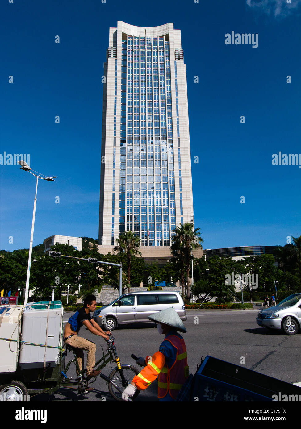 taxation office tower in Zhuhai Tax - Stock Image